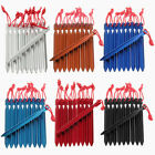 10Pcs Aluminum Alloy Camping Trip Tent Peg Ground Nail Stakes 16Cm