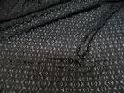 Discount Fabric Stretch Mesh Lace Black Embroidered Circles Sheer D202