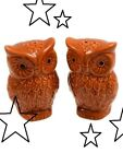 Hello Fall New Ceramic Owl Autumn Salt  Pepper Shakers Fall Thanksgiving Decor