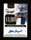 2010 Playoff National Treasures Steve Largent Autograph Patch 15 Seahawks