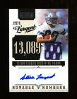 2010 Playoff National Treasures Steve Largent Autograph Jersey 25 Seahawks