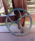 Antique Distressed Industrial Pulley Wheel Salvage Wall Art 111/2