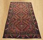 Authentic Hand Knotted Afghan Adras Khan Balouch Wool Area Rug 6 x 3 FT (5191)