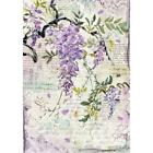 Stamperia Rice Paper Sheet WISTERIA A4 size One Sheet