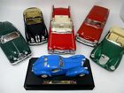 Lot of 6 Diecast 1950s Cars Chevy Bugatti Jaguar Cadillac BMW Mercedes118 Scale