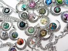 US SELLER 25 pieces wholesale cabochon moon necklaces jewelry lot warehouse