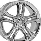 22x9 Wheels Fit Ford Edge Chrome Rims 3850 B1W SET