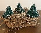 PRIMITIVE CHRISTMAS TREES. BOWL FILLERS. ORNIES