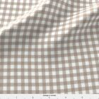 Mocha Brown Gingham Fabric Printed By Spoonflower Bty