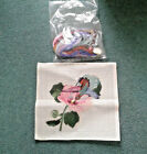 Beautiful Vintage Flower  Hummingbird Needlepoint Canvas  Yarn