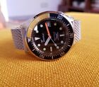 Squale 1521 Taucher Uhr diver watch 50 atmos 500mt , mesh & leather band vintage