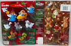 2 Bucilla Felt Ornament Kits Woodland Santa Baby Jesus Nativity Christmas NIP