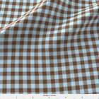 Plaid Brown And Sky Blue Gingham Fabric Printed By Spoonflower Bty