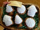 Six Handcrafted Christmas Gingerbread Cookie Ornie's Bowl Filler's