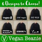 Printed Beanie VEGAN Lifestyle Health Hat Cap Knit Green New Gift Mens Womens