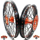 21/18 ENDURO WHEEL RIMS FIT KTM EXC XC EXC-W 125-530CC ORANGE NIPPLE WITH DISCS