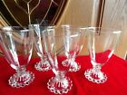 5 Boopie Beverage  Water Glasses 1950's Anchor Hocking  Clear 5 1/2