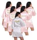 Personalized Satin Silk Wedding Bath Kimono Robe Bridesmaid Bride Dressing Gown