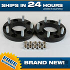 Black Jeep Grand Cherokee hubcentric Wheel Spacers Adapters fits JK WJ WK WK2 1