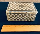 Anchor Hocking Hobnail Moonstone Opalescent Glass Rectangular Box w/ Lid