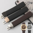 21mm RUBBER WATCH BAND STRAP Fit For Patek Philippe Nautilus Watches + BUCKLE