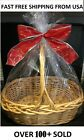 2 Clear Premium LARGE GIFT BASKET BAGS 24X30 Cellophane Baby  Easter FREE SHIP