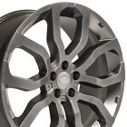 22 Rims Fit Land Rover Range Rover Hyper Silver Wheels 72200