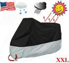Motorcycle Cover Bike Waterproof For Harley Davidson Outdoor Dust Black Grey XXL