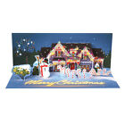 LED Lighted Holiday Lights Pop Up Christmas Card Merry Christmas with Snowman