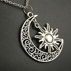 My Moon and Sun Necklace Magical Celtic Crescent Stars Boho Celestial Jewelry