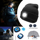 Unisex LED Beanie Hat USB Rechargeable Battery 5Hours High Powered Light Stylish