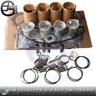Rebuild Kit W/ Pistons Rings Bearings Liners & Gasket Kit For Isuzu 4JA1 2.5 LTR