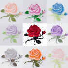 9Colors Embroidery Rose Flower Sew Iron On Patch Badge Clothes Fabric Applique