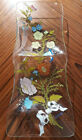 Dorothy Thorpe Wild Flowers Plate MCM Long Glass Serving Platter Jewelry Tray