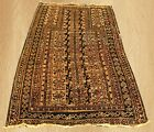 1920's Distressed Antique Afghan Maldar Balouch Prayer Wool Area Rug 5 x 3 FT