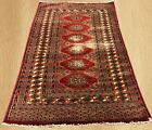 Distressed Hand Knotted Vintage Pak Jaldar Jhaldar Area Rug 5 x 3 FT (4466)