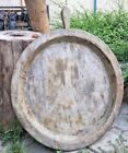 Extra Large Teak Wood Vintage Dough Proof Kitchen Bowl  Trencher Tray Rustic Hom
