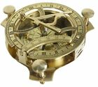 NAUTICAL HAND-MADE SOLID BRASS WORKING 3 INCHES SUNDIAL COMPASS - MARINE GIFT