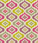 Fabric Upholstery Drapery Waverly Lunar Lattice Passion Pink Purple Ikat EE29