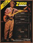 Frank Zappa Carvin Amplifiers Single Page Print Ad 1988 X 100B Tube Stacks