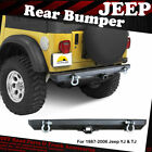 1987 2006 JEEP WRANGLER YJTJ REAR BUMPER BLACK TEXTURED REAR GUARD with D Rings