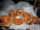 Fire King dishes Peach Luster - Several Pieces vintage set Box calls them Amber