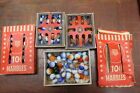 LOT OF VINTAGE MASTER MADE MARBLES MASTER GLASS CO. IN BOXES ORANGE AND BLUE