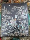 Chinese Estate Old House18th Kangxi Pearl inlaided Lacquer Ink Box Asian China