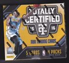 2015-16 Panini Totally Certified Basketball Factory Sealed Box 4 Hits autograph