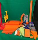 Hot Wheels Orange Track Lot Straight Loops Connectors Booster Works