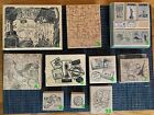 Wood Mounted Travel  World Rubber Stamps for Scrapbooking and Stamping