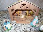 Large Vintage Italian Manger Nativity Set Christmas Made In Italy