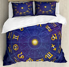 Astrology Duvet Cover Set with Pillow Shams Horoscope Birth Dates Print