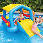 Intex Inflatable Cabin Island Pool with Slide  Removable Sides Play Center